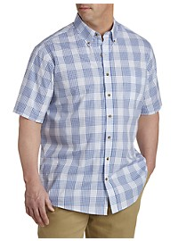 Harbor Bay Easy-Care Medium Check Sport Shirt
