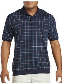 Harbor Bay Double Square Print Banded-Bottom Shirt