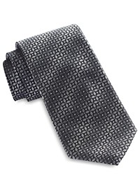 Synrgy Diamond Floral Neat Tie