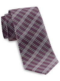 Synrgy Thin Line Plaid Tie