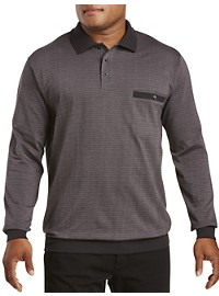 Harbor Bay Jacquard Stripe Polo Shirt