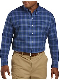 Oak Hill Medium Plaid Brushed Oxford Sport Shirt