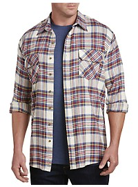 Harbor Bay Large Plaid Flannel Shirt
