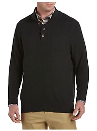 Oak Hill Mockneck Textured Charcoal Sweater