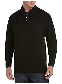 Synrgy Ribbed-Knit Shoulder 1/4-Zip Pullover