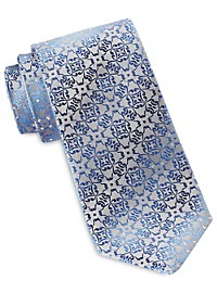 Synrgy Ground Geometric Floral Tie