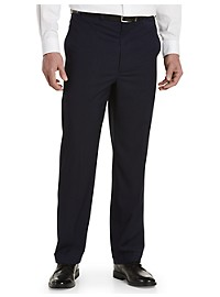 Geoffrey Beene Mini Check Flat-Front Suit Pants