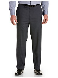 Geoffrey Beene Plaid Flat-Front Suit Pants