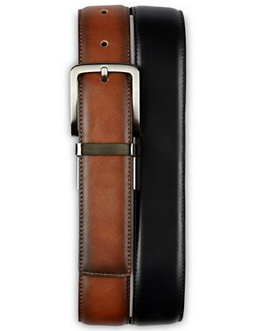 Harbor Bay by DXL Big and Tall Double Loop Leather Belt