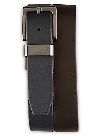 Harbor Bay Reversible Gunmetal Belt