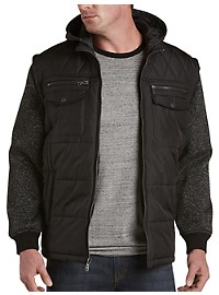 PX Clothing Quilted Athletic Full-Zip Jacket
