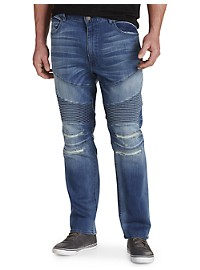 MVP Collections Stretch Moto Jeans