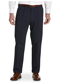 Gold Series Perfect Fit Waist-Relaxer Hemmed Pleated Suit Pants