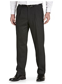 Gold Series Perfect Fit Waist-Relaxer Unfinished Pleated Suit Pants