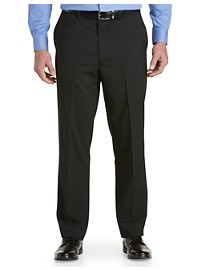 Gold Series Perfect Fit Waist-Relaxer Unfinished Flat-Front Suit Pants