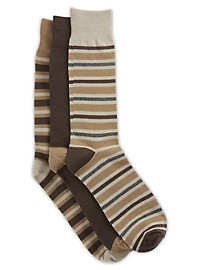 Harbor Bay 3-pk Stripe-Pattern Crew Socks