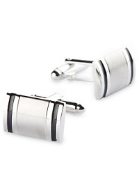 Gold Series Silver Brushed Cuff Links