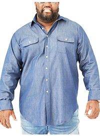 MVP Collections Chambray Denim Sport Shirt