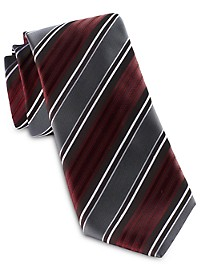 Synrgy Wide Textured Stripe Tie
