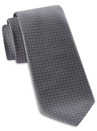 Synrgy Circle Dot Geometric Tie