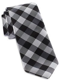 Synrgy Square Block Plaid Tie