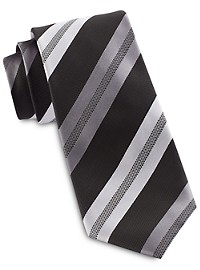 Synrgy InteliStretch Performance Textured Stripe Tie