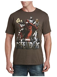 Marvel Comics Defenders Cityscape Graphic Tee