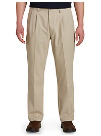 Harbor Bay Waist-Relaxer Pleated Pants