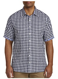 Synrgy Contrast Square Small Plaid Sport Shirt