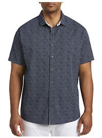 Synrgy Mini Floral Print Sport Shirt