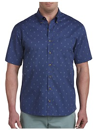 Harbor Bay Easy-Care Palm Print Sport Shirt