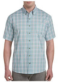 Harbor Bay Easy-Care Large Plaid Sport Shirt