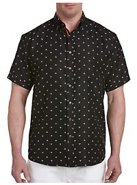 Synrgy Triangle Print Microfiber Sport Shirt
