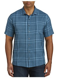 Synrgy Large Plaid Microfiber Sport Shirt