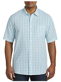 Harbor Bay Small Check Seersucker Sport Shirt