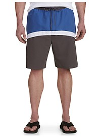 True Nation Colorblock Swim Trunks