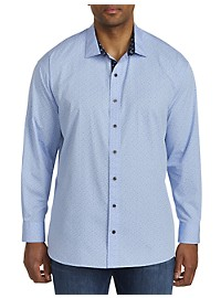 Twenty-Eight Degrees Double Dot Print Sport Shirt