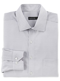 Rochester Non-Iron Textured Small Grid Dress Shirt