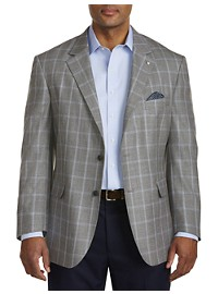 Oak Hill Jacket-Relaxer Textured Windowpane Sport Coat