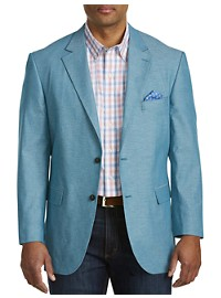 Oak Hill Jacket-Relaxer Chambray Textured Sport Coat