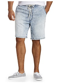 Society of One Acid Wash Denim Shorts