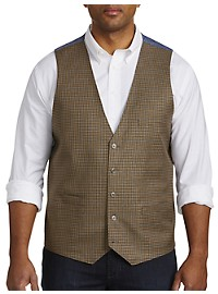Oak Hill Mini Check Reversible Chambray Vest