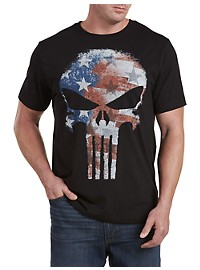 Marvel Comics Punisher Flag Graphic Tee