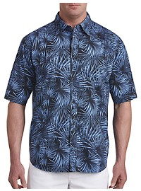 PX Clothing Fan Palm-Print Sport Shirt
