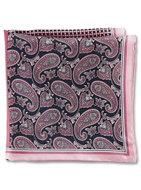 Rochester Paisley Geo Multi Silk Pocket Square
