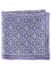 Rochester Medallion Floral Silk Pocket Square