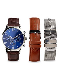 Synrgy Analog Watch with Bracelet Sets