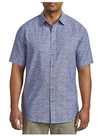 True Nation Floral-Print Chambray Sport Shirt