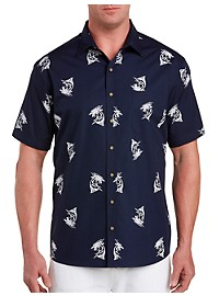 Harbor Bay Marlin Print Sport Shirt