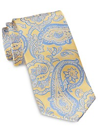 Rochester Designed in Italy Large Exploded Paisley Silk Tie